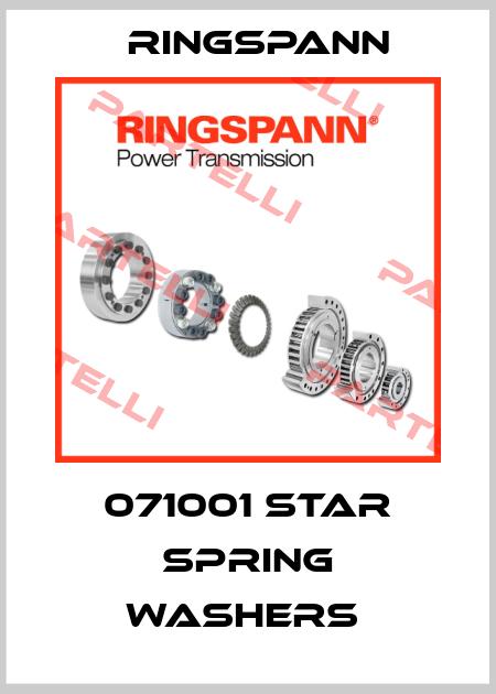 Ringspann-071001 STAR SPRING WASHERS  price