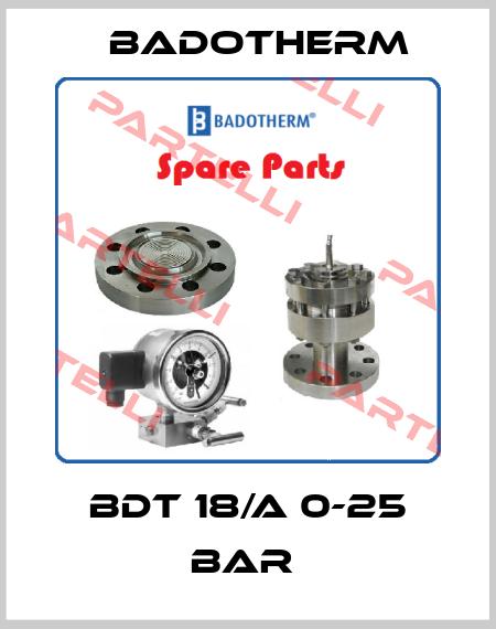 Badotherm-BDT 18/A 0-25 BAR  price
