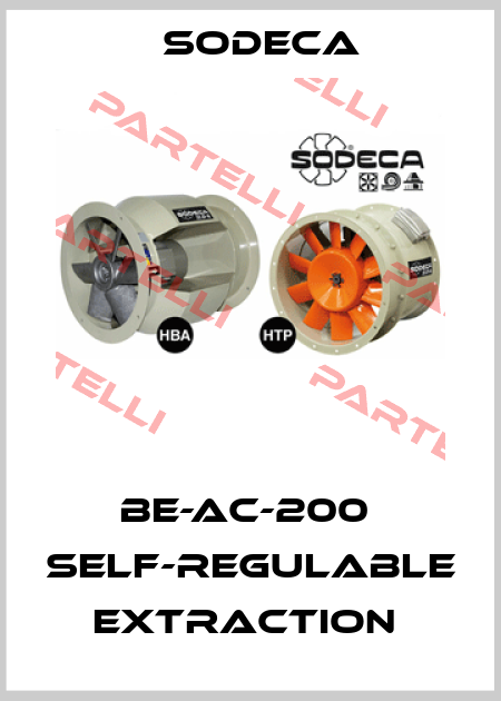 Sodeca-BE-AC-200  SELF-REGULABLE EXTRACTION  price