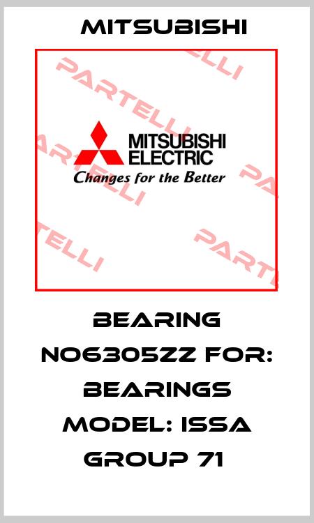 Mitsubishi-BEARING NO6305ZZ FOR: BEARINGS MODEL: ISSA GROUP 71  price