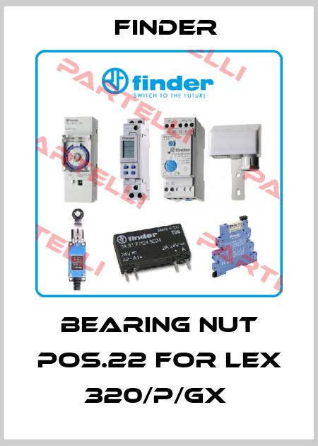 Finder-BEARING NUT POS.22 FOR LEX 320/P/GX  price