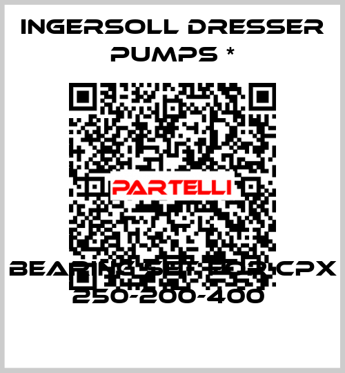 Ingersoll Dresser Pumps *-BEARING SET FOR CPX 250-200-400  price