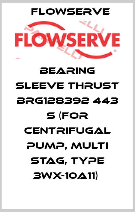 Flowserve-BEARING SLEEVE THRUST BRG128392 443 S (FOR CENTRIFUGAL PUMP, MULTI STAG, TYPE 3WX-10A11)  price