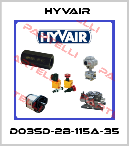 Hyvair-D03SD-2B-115A-35 price